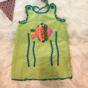 Bonnie Jean Fish Seersucker Dress Toddler Girls